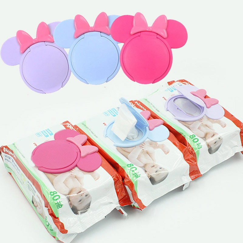 1Pc Cartoon Baby Wet Wipes Lids Reusable Wet Wipes Cover For Wet Wipes Baby Skin Care Portable Travel Wipes Tissues Bag Covers недорого