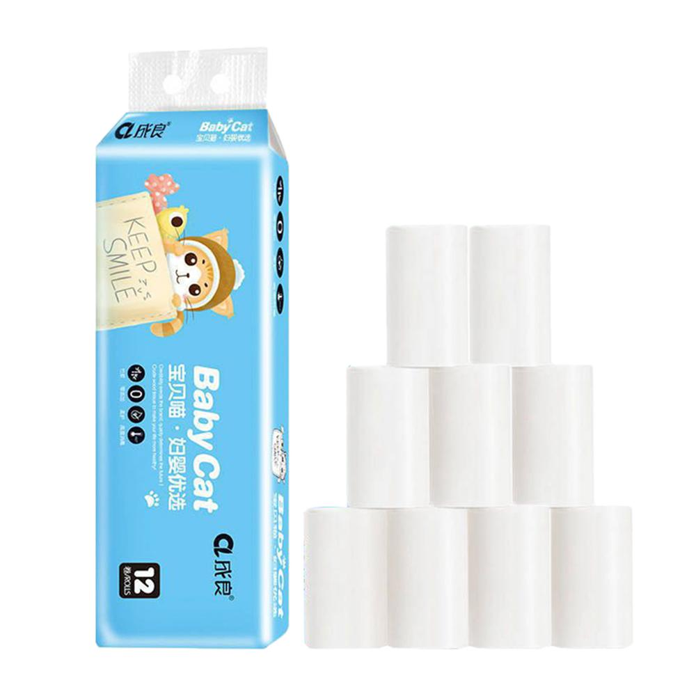 12 рулонов, 4 слоя, приятная для кожи туалетная бумага, домашняя туалетная бумага, туалетная бумага, мягкая туалетная бумага, полотенца, туале...