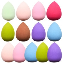 Water Drop Shape Makeup Puff Multiple Colors Cosmetic Smooth Powder Beauty Basic Products Sponge Cle