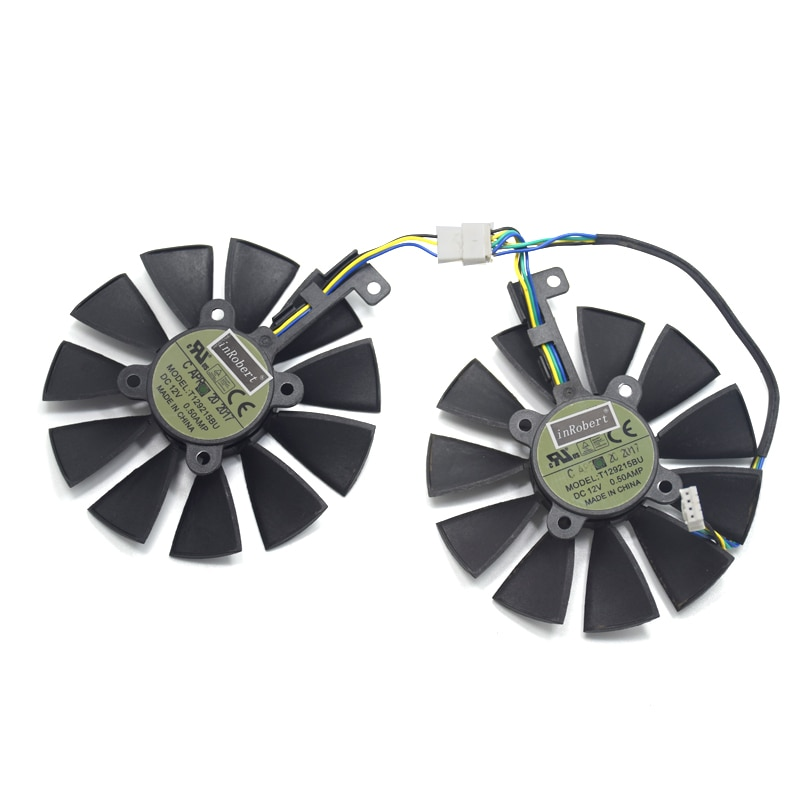 87mm Cooler Fans T129215BU GTX1070 RX480 RX570 VGA Fan Replace for ASUS 1066 EX-GTX1070-O8G DUAL-RX480-O4G EX-RX570-O4G Card