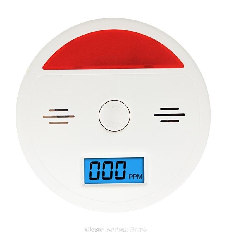 Sensor de co Monóxido de Carbono Fumaça de Carvão Vazamento de Gás Alarme de au Built-in Sirene Envenenamento Aviso co 27 20 Dropship Lcd 85db Som