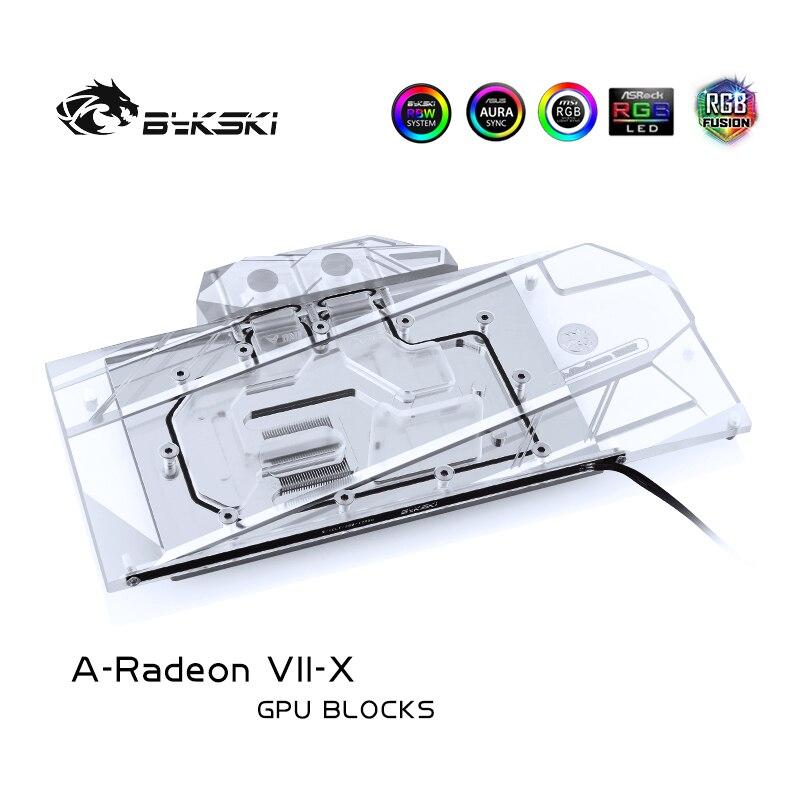 Bykski A-Radeon VII-X ، غطاء كامل بطاقة جرافيكس كتلة تبريد المياه للمؤسس الطبعة AMD Radeon السابع