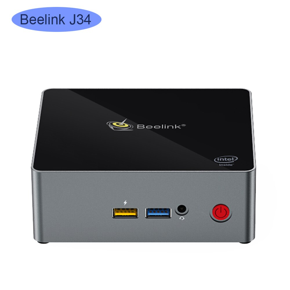 Beelink J34 ganar 10 Mini PC intel J3455 2,3 GHz 8GB DDR3 256GB SSD windows 10 computadora linux NUC ubuntu computadoras de escritorio