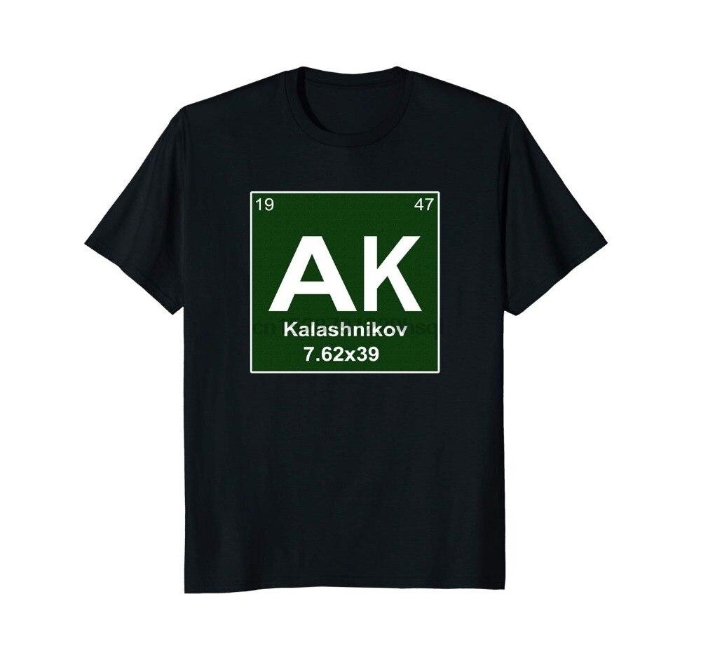 2019 moda estilo Casual manga corta para hombres ropa verano Ak kasashnikov 7 62x39 personalizar camisas de talla grande camiseta