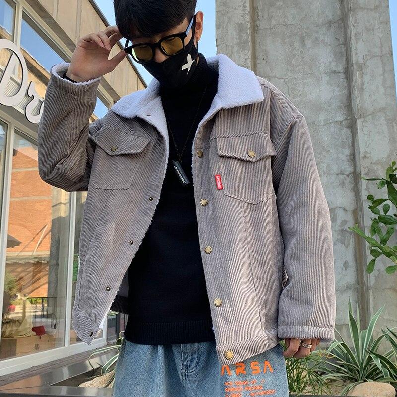 Куртка мужская Вельветовая утепленная, повседневная утепленная верхняя одежда в стиле хип-хоп, цветная верхняя одежда для подростков, Осен... верхняя одежда uki kids куртка утепленная для девочки меланж