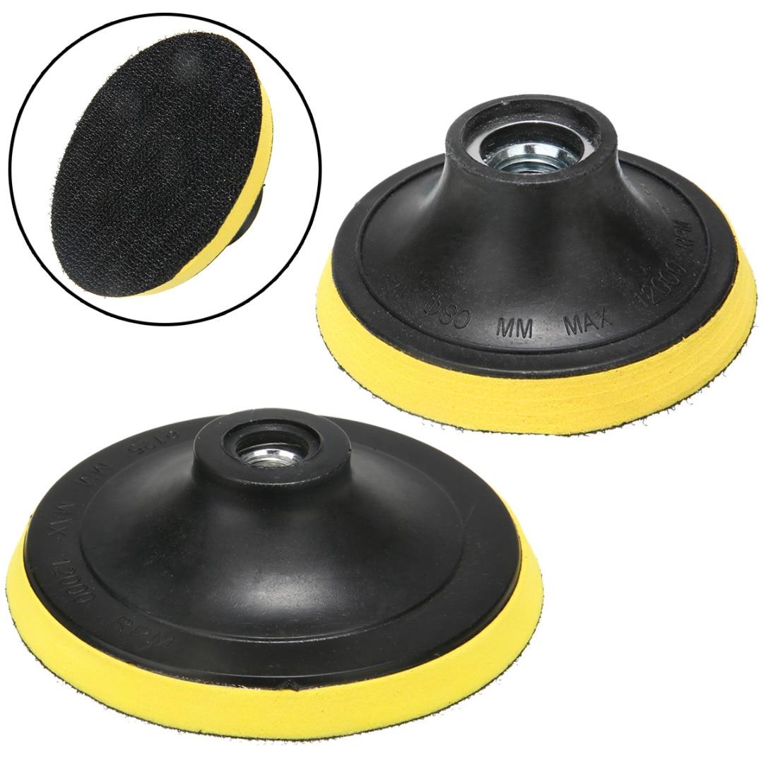 AliExpress - 1Pcs M14 Backing Pad Holder Polishing Buffing Plate Disc Adhesive Backer Hook Loop Pad  75/100mm/125mm For Car Polisher