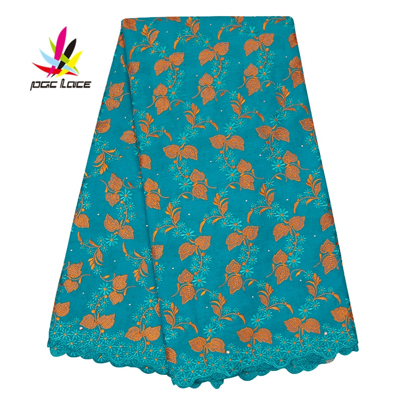 Tela de encaje Austria gasa Suiza algodón bordado tela última moda para vestido de novia Material flor americano tul AMY2541B