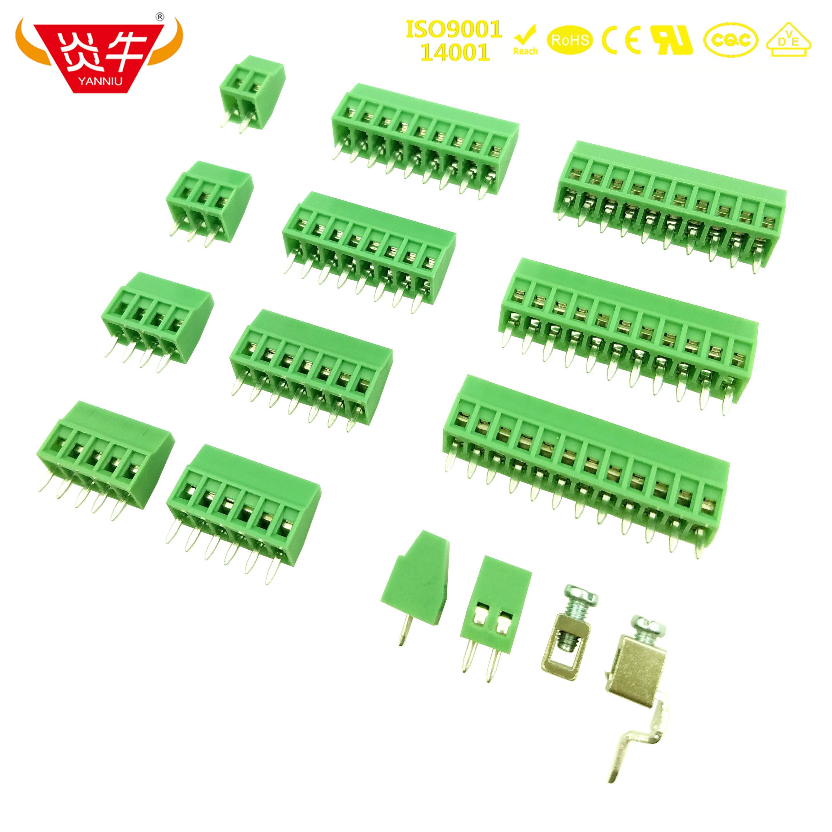 KF128 2.54 2P ~ 12P MINI PCB CONNECTOR SCREW TERMINAL BLOCKS DG308 KF308 2.54mm MPT 0,5/2-2,54 - 1725656 PHOENIX CONTACT DEGSON
