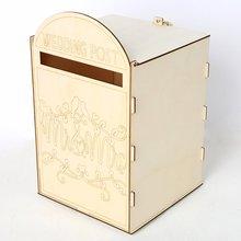 لوازم الزفاف الخشبية صندوق البريد الملكي آخر نمط الديكور خشبية الزفاف الإبداعية صندوق البريد الحرف الديكور