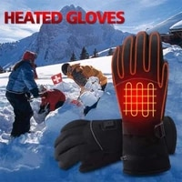 motorcycle gloves waterproof heated guantes moto touch screen battery powered motorbike racing riding gloves winter