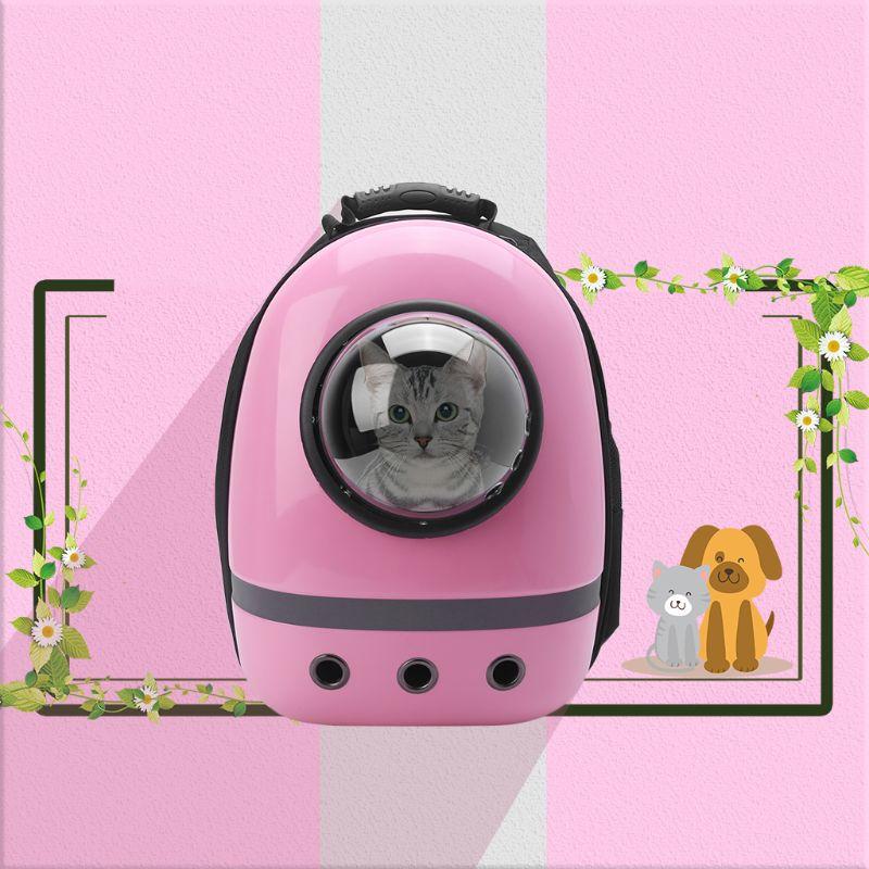 Transportadores de mascotas bolsa de viaje transpirable mochila de cápsula espacial mochila de perro gato H8WD