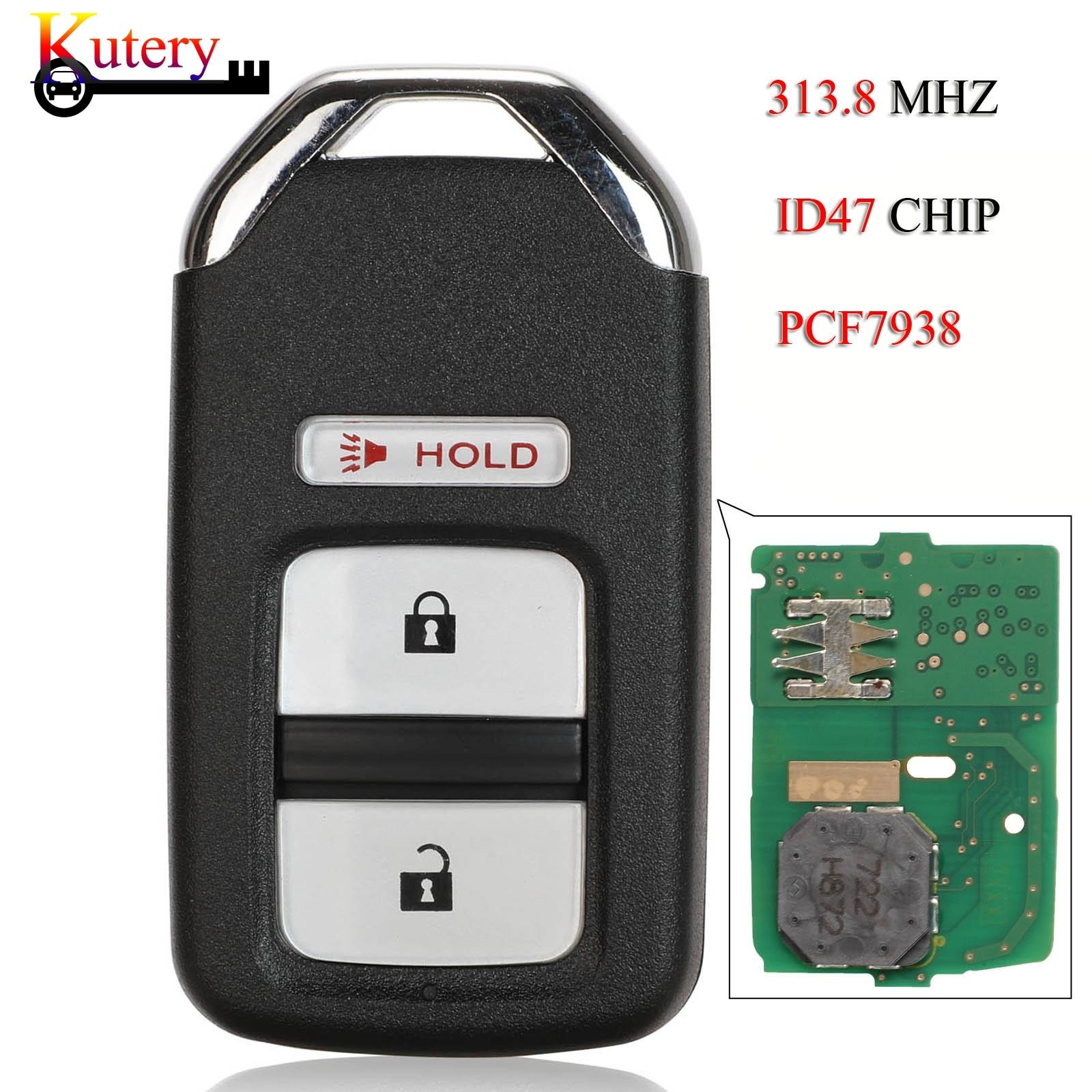 Умный Автомобильный ключ Kutery для Honda Fit Jazz HR-V Crosstour 2 + 1 3 кнопки 313,8 МГц ID47 PCF7938 чип 72147-T5A-A01 KR5V1X