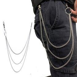 3 camadas de corrente com personalidade rock punk estilo dança cinto corrente moda feminina selvagem jeans decoração correntes do corpo