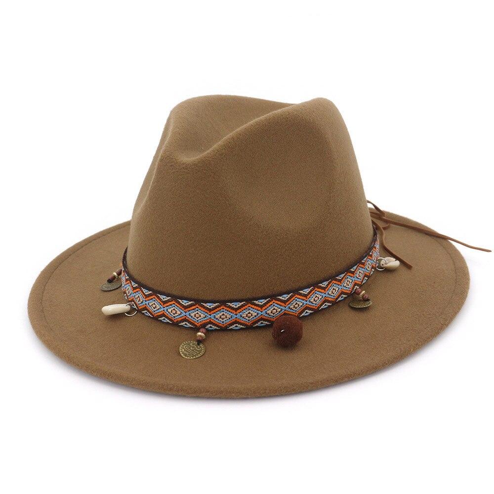 2020 caliente Otoño Invierno sombrero de sol mujeres sombrero de fieltro para hombre de ala ancha clásica disquete de fieltro Cloche Cap Chapeau lana de imitación Cap HF43