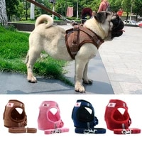 vest with collar breathable adjustable soft pet small collar dog for dog accessories medidum large walking harness pets leash le