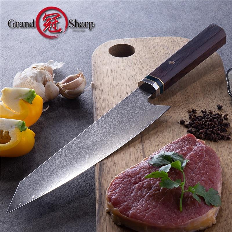 سكين مطبخ ياباني من الفولاذ المقاوم للصدأ Kiritsuke ، 8.2 بوصة ، مقبض خشبي ، صندوق هدايا ، جديد