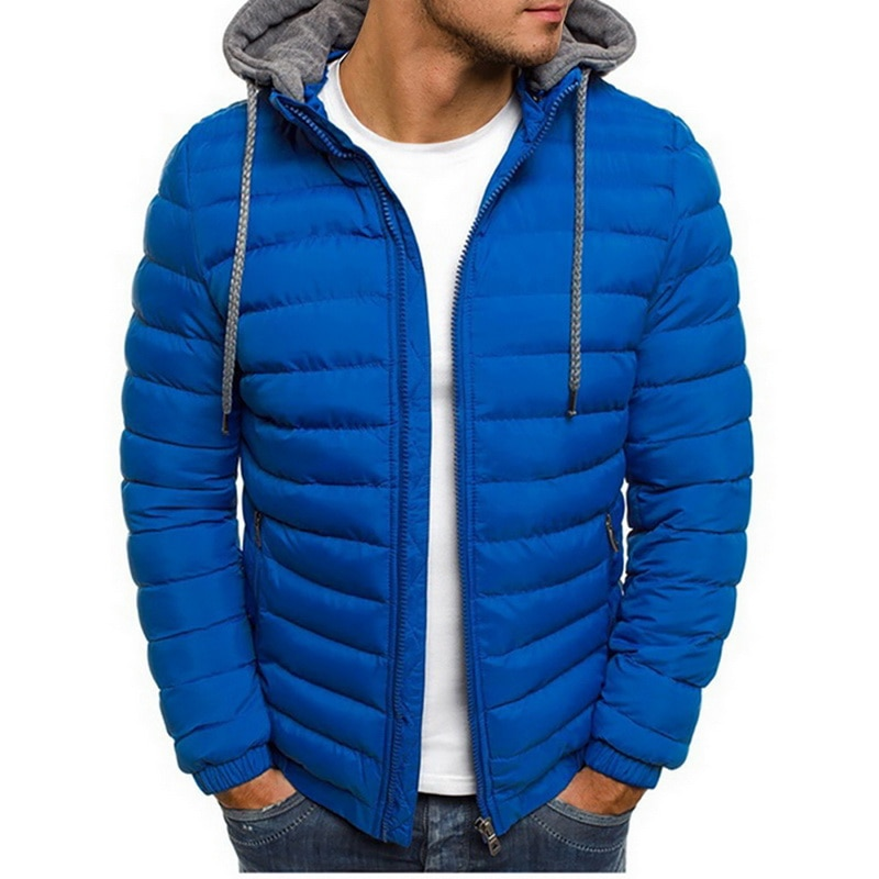Sfit Men Lightweight Windproof Warm Packable Casual Jacket Hooded Coat Causal Zipper Parka Clothes Streetwear Men Coat2