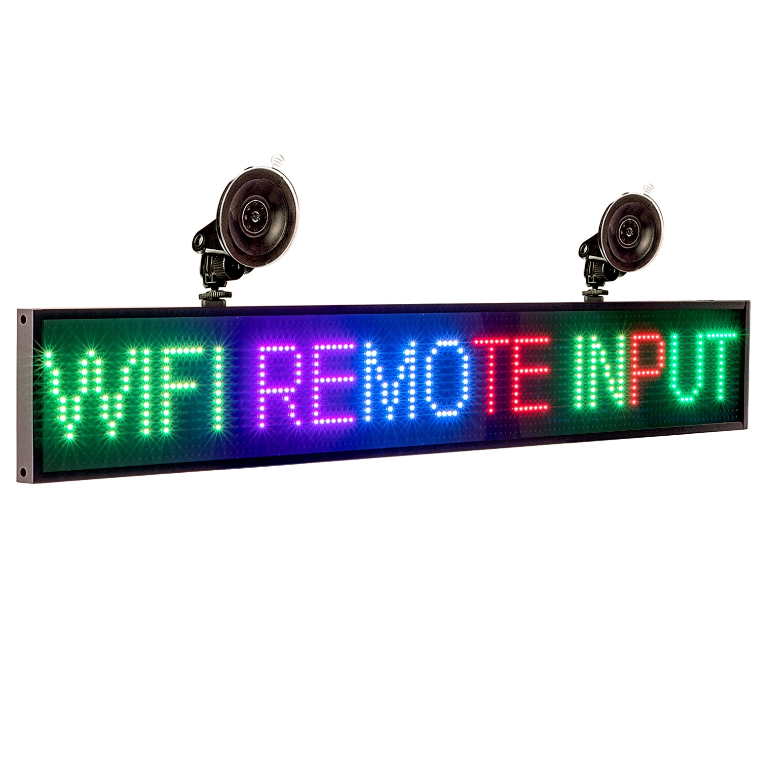 P5 82cm 12V SMD2121 RGB Sign Full Color Car LED Display Board Indoor Programmable Scrolling Text Message Advertising Screen