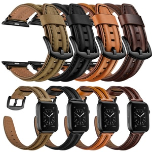 High Quality Strap for Apple Watch band 42mm 38mm apple watch 6 5 4 3 2 40mm 44mm iWatch SE belt Luxury Genuine Leather bracelet