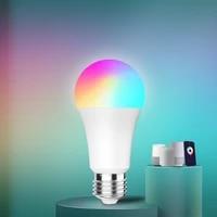 Ampoule LED intelligente E27  lampe RGB a intensite reglable  controle a distance via application Cloud  Compatible avec Google Home Alexa Voice Control