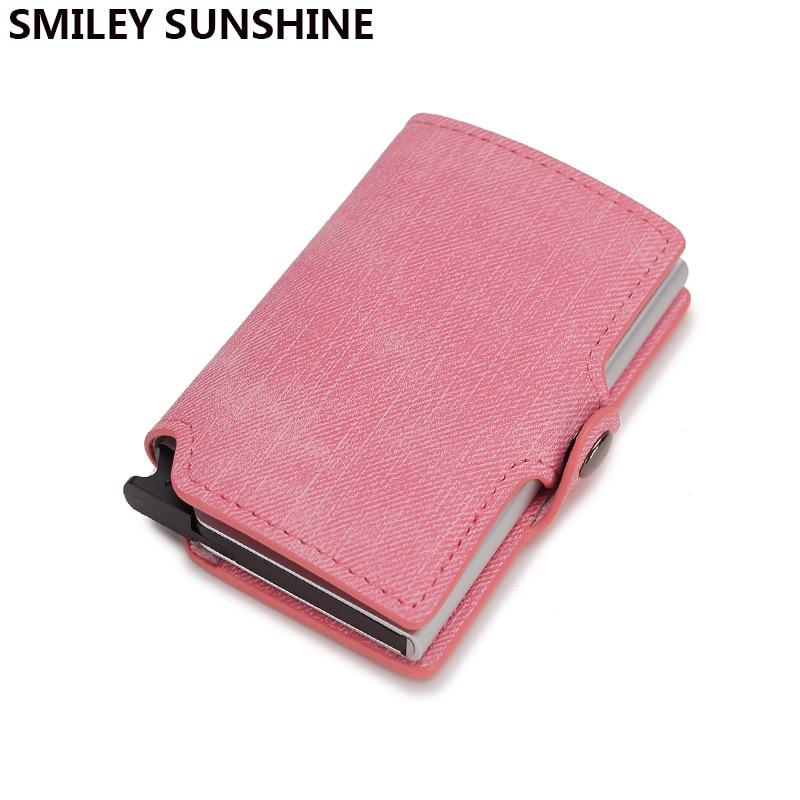 Rfid lindo rosa para mujer cartera tarjetero Delgado Mini bolsillo monedero femenino corto Walett ladiesbillets sac femme