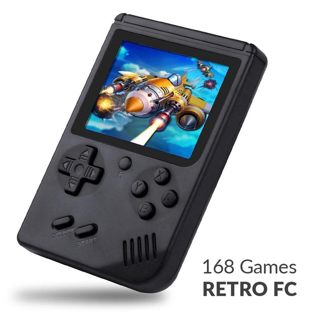 168 игр, Мини Портативная ретро-видео консоль, портативная игра Advance Players Boy, 8 бит, встроенный Геймбой 3,0 дюймов, цветной ЖК-экран