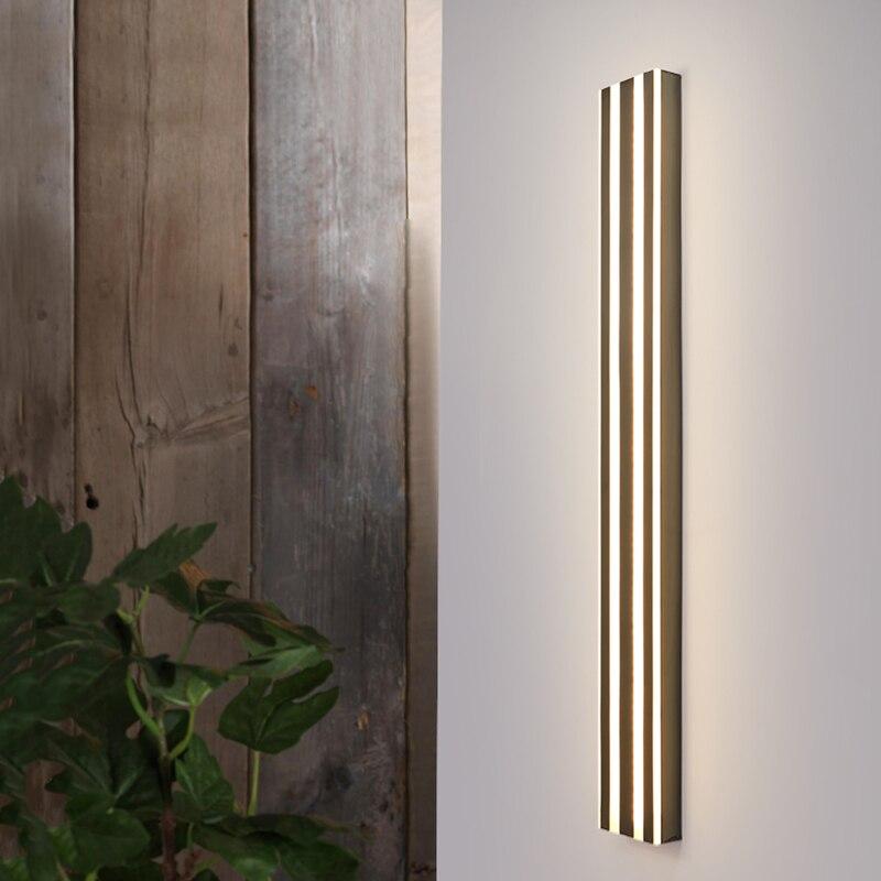 Stainless steel Waterproof outdoor wall lamp LED Long Wall light IP65 courtyard Light Garden Villa porch Sconce 110V 220V Light enlarge