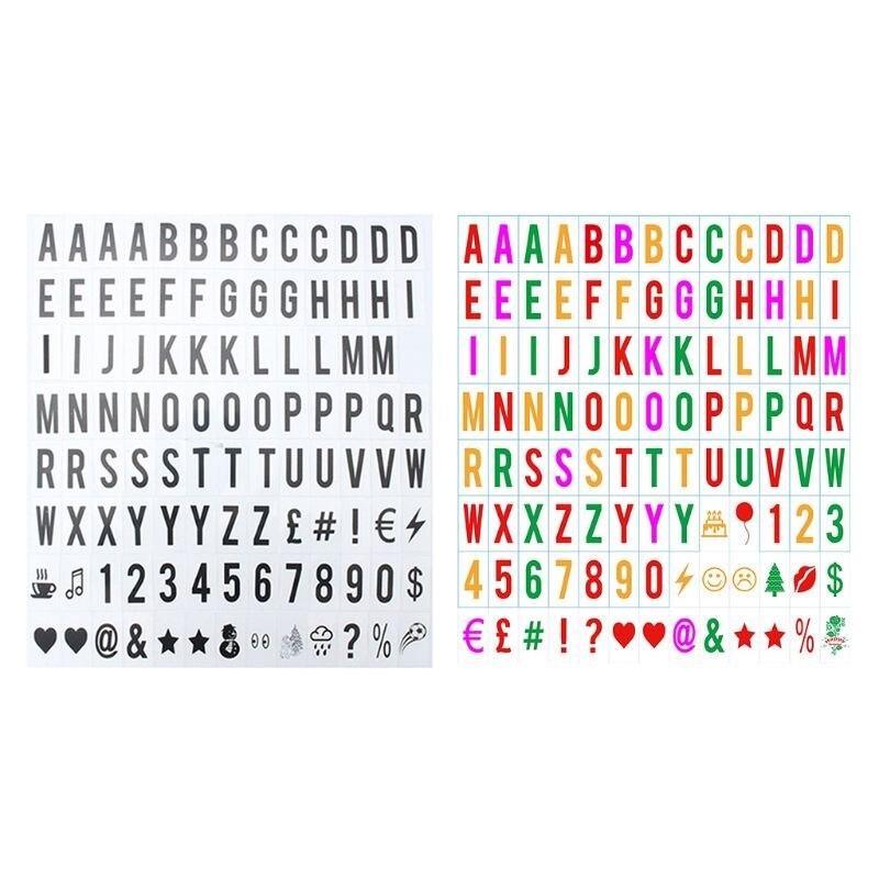 65.4x35mm letras & números de substituição cinematic lightbox sinais para a4 light up l4md