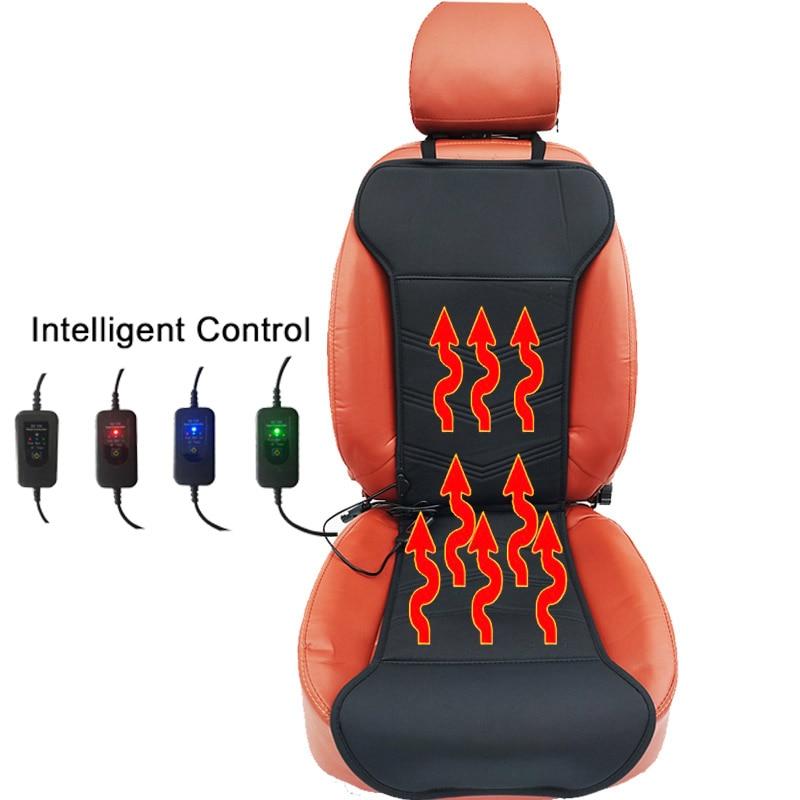 Inteligente 12v couro do plutônio elétrico aquecido almofadas de assento de carro no inverno aquecimento cobre manter quente boa qualidade para fordkuga f5 x25