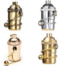 Vintage rétro douille de lampe E27/E26 pied de vis support de lampe raccord à suspension lampe de bureau applique murale pour la décoration intérieure