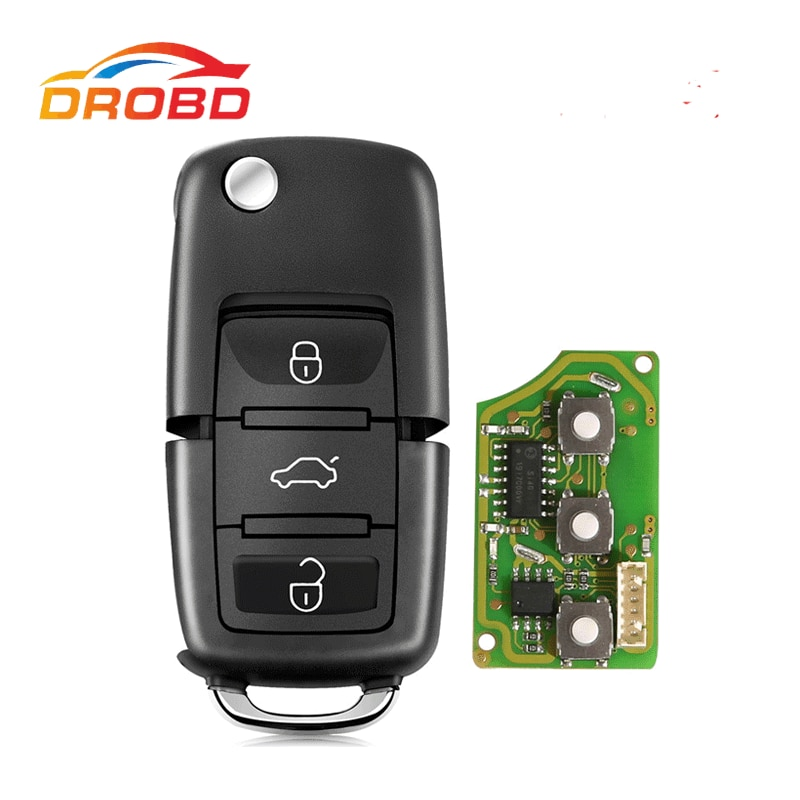 Xhorse XKB501EN Wire Remote Key For Volkswagen B5 Style Remote Key 3 Buttons Board