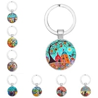 2021 new house key chain beautiful house key ring under the stars personalized jewelry gift
