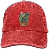 vintage cotton denim cap baseball hat cactus free hugs six panel adjustable trucker dad hat for adults unisex