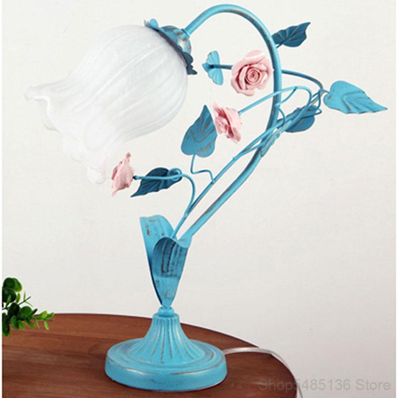 coreano de vidro rosa flor mesa luz led arte arte decoracao restaurante bar candeeiro