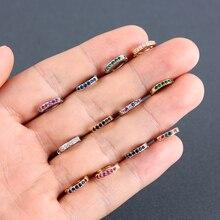 2 stücke CZ Stud Ohrring Regenbogen Gold Ohrringe Für Frauen Koreanische Ohrringe Zirkonia Kristall Charme Schmuck Geschenk Knorpel Ohr Studs