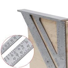 7 inch Triangle Square Ruler Aluminum Alloy Speed Protractor Tri-square Line Scriber Saw Guide Measurement Tool For Carpenter