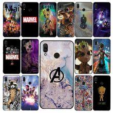 Maiyaca Marvel Avengers Endgame Thanos étui de téléphone pour Xiaomi Redmi4X 6A 9 8A note 9 pro 5Plus Note4 Note5 7 Note6Pro 8T