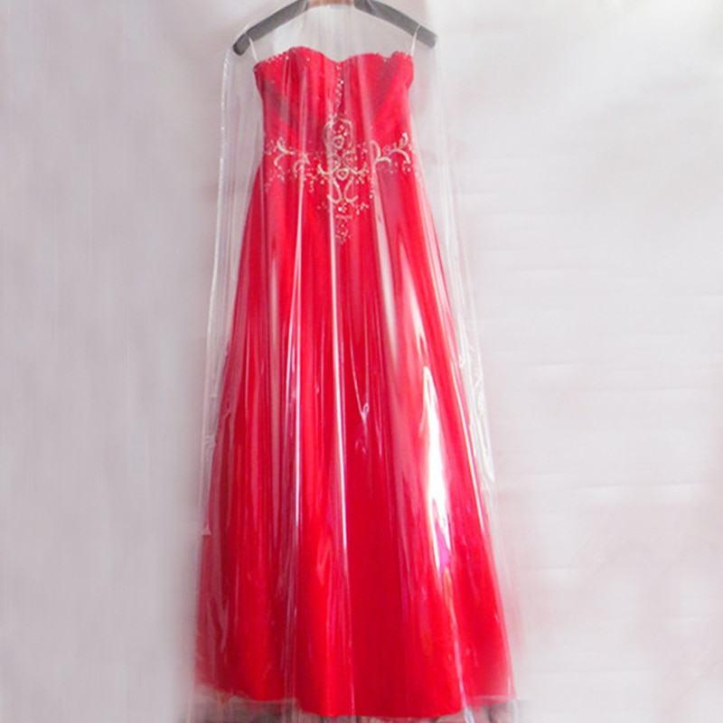 Thickened PVC Hanging Wedding Dresses Garment Dust Cover Bag Pocket Long Clothes Protector Dustproof Covers for Home Bridal Shop enlarge