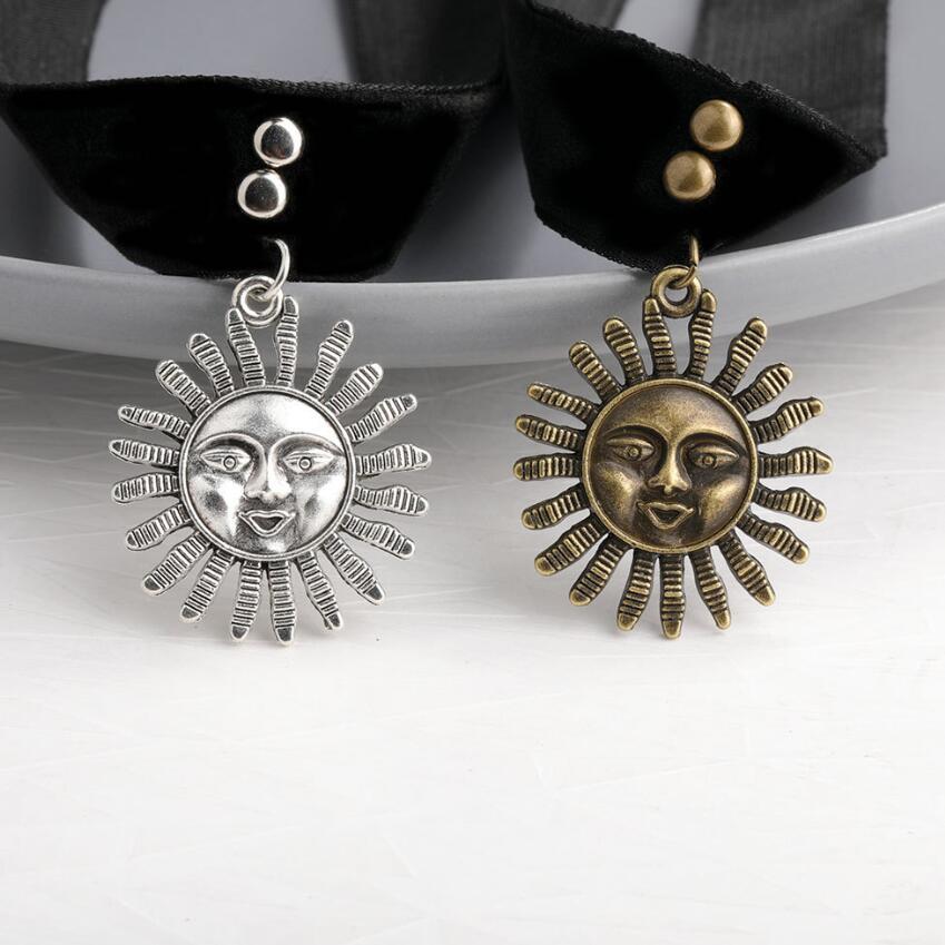 2020 quente do vintage feminino gothic leon o profissional mathilda colar meninas fita de veludo preto retro em forma de sol gargantilha colar