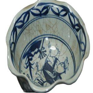 China Old Blue And White Crackle Glaze Porcelain Painted Porcelain Bowls Antique Classic Ceramic Home Decor Art Collection