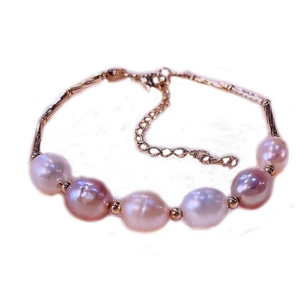 Pulsera de perlas de plata de ley S925 de YKNRBPH para mujer, joyería de cadenas de Bodas de separación de cuentas de plata