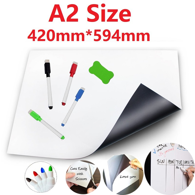 A2 размер сухой стереть Магнитный Магнит для доски школы офиса доски объявлений белая доска стираемая доска для детей
