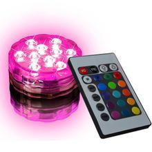 Control remoto 7 colores LED luz redonda taza estera posavasos coche Bar restaurante Decoración