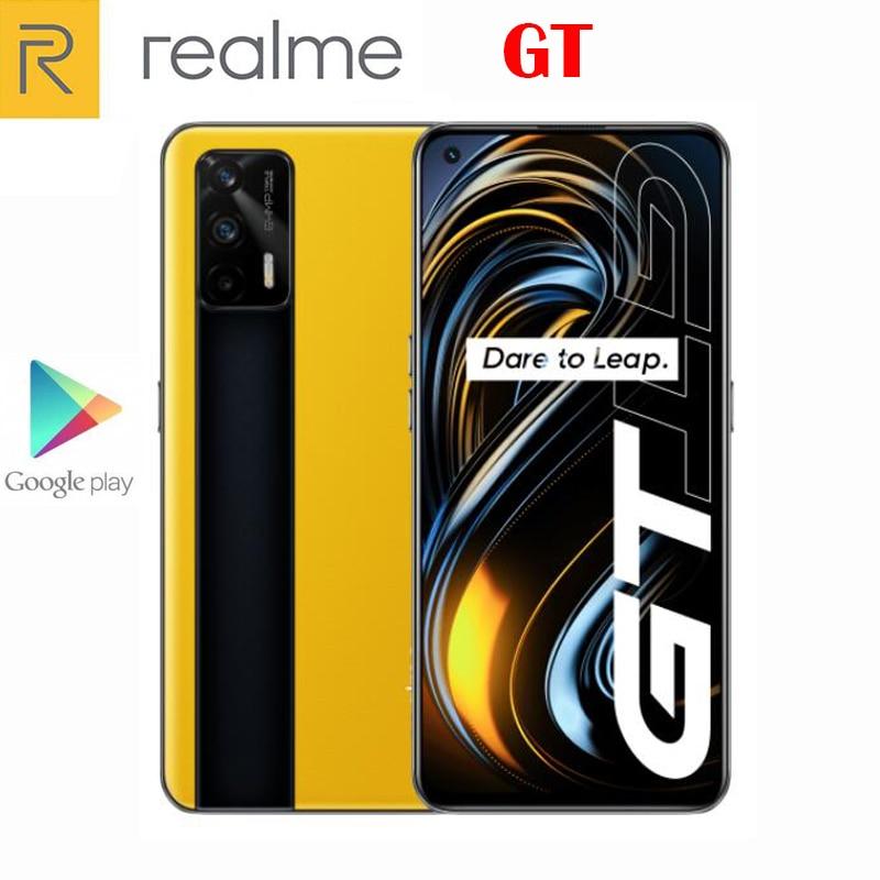 Новый Официальный Оригинал Realme GT 5G сотовый телефон 6,43 дюймов 120 Гц Super AMOLED Snapdragon 888 Android11 64MP 4500 мА/ч, 65 Вт, мгновенная зарядка