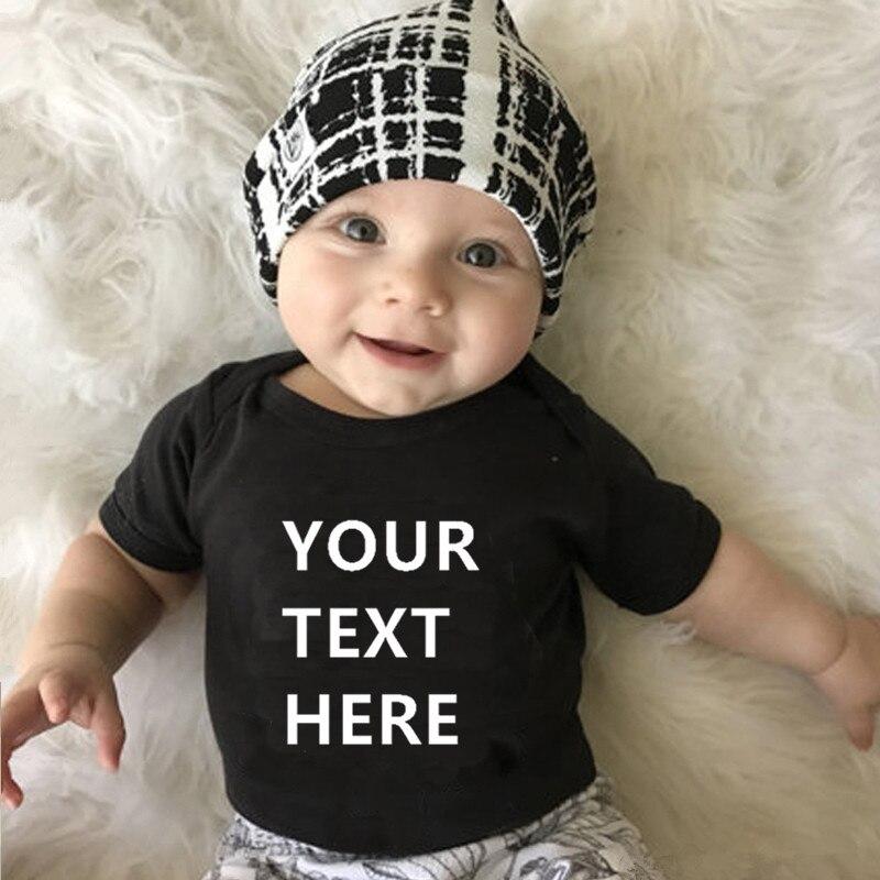 Tu texto aquí imprimir bebé recién nacido Body mameluco de manga corta bebé niña Onesie Body bebé ropa