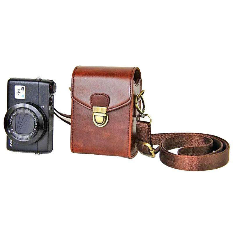 Sac à bandoulière en cuir pour appareil photo avec sangle amovible pour Canon Powershot G9x II G7x III II G9XM2 G7XM2 G7XM3 SX740 SX730