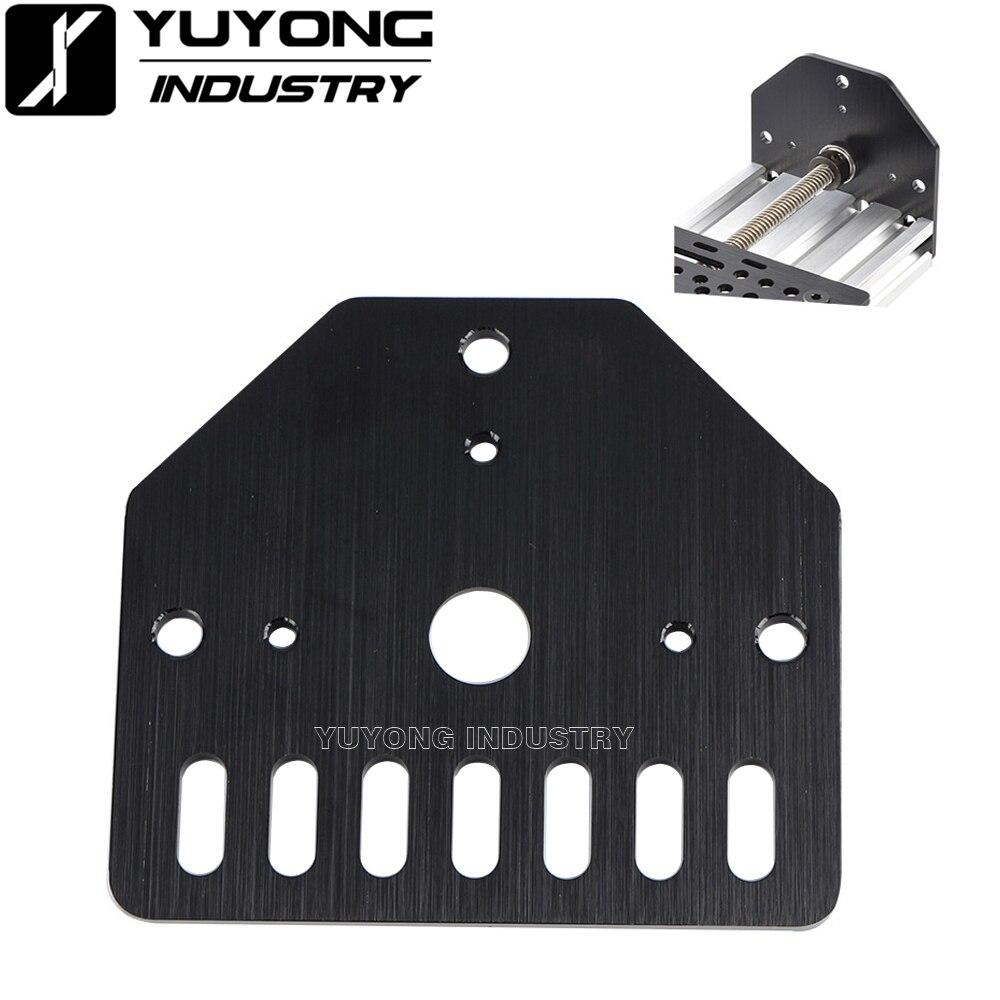 Threaded Rod Plate for Nema 23 stepper motor on V-slot OX CNC OpenRail