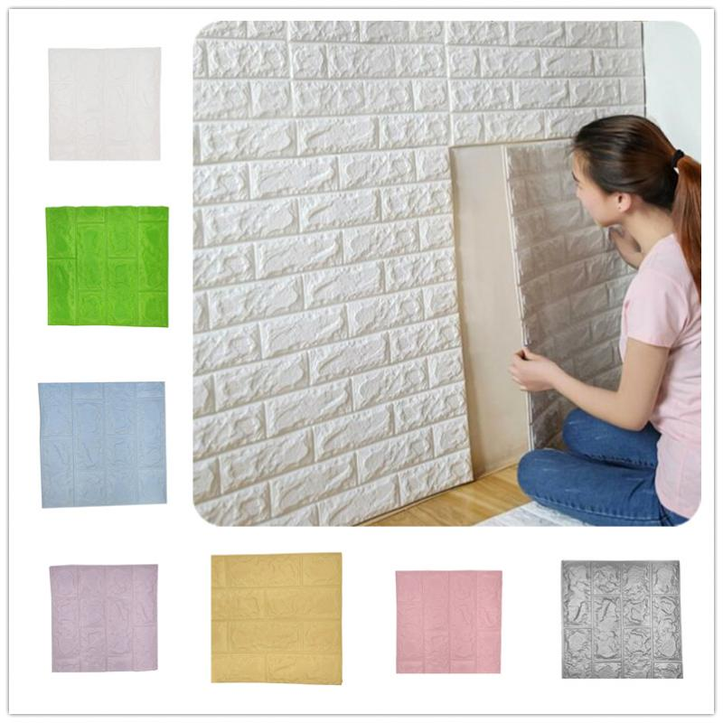Papel de pared de ladrillo 3D, papel de pared 3D autoadhesivo, impermeable, 29 × 29cm para dormitorio, cuarto de niños, sala de estar, papel tapiz 3D
