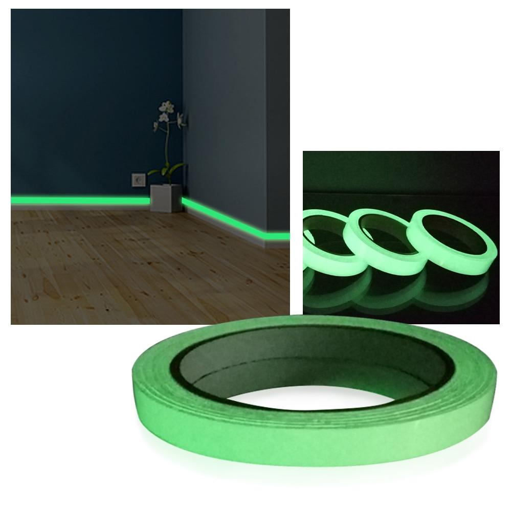 1/5/10Pcs Luminous Tape PVC Material Baseboard Beautiful and Wearable Wall Stickers DIY Strip Home Wallpaper Decoration