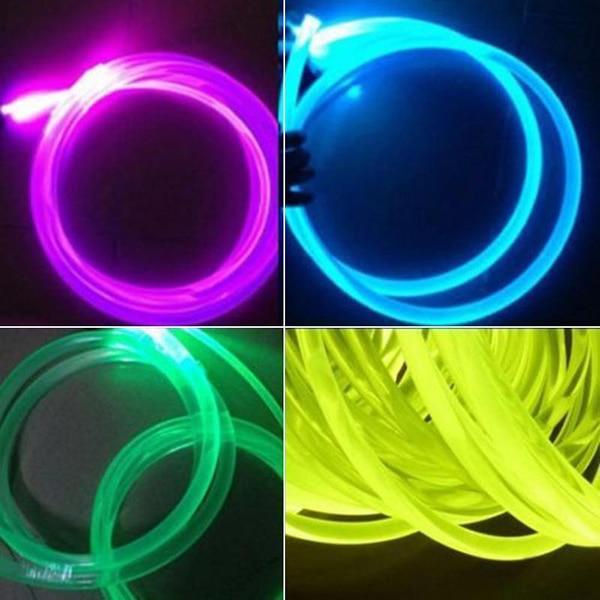 Длинный 1 м PMMA сторона свечение оптика волокно кабель 1,5 мм% 2F2 мм% 2F3 мм диаметр для автомобиля светодиода света яркого LB88